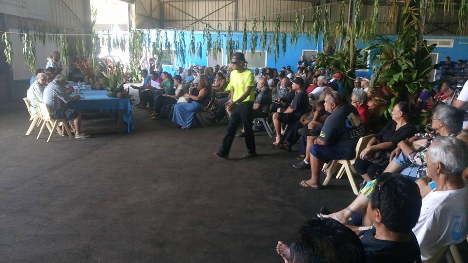 Le projet de résolution a été présenté aux militants indépendantistes lors de l'inauguration de la nouvelle permanence du parti ©Moetai Brotherson