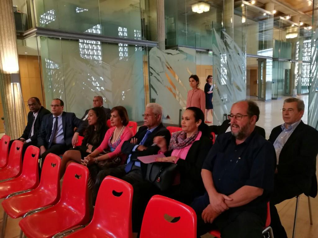 Quelques membres de la délégation Outre-mer du Conseil économique sociale et environnementale lors de la conférence de presse