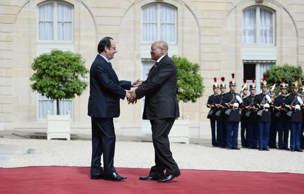Jacob Zuma est en visite d'Etat en France, la deuxième depuis qu'il a été élu Président de l'Afrique du Sud en 2009 ©Stephane De Sakutin / AFP