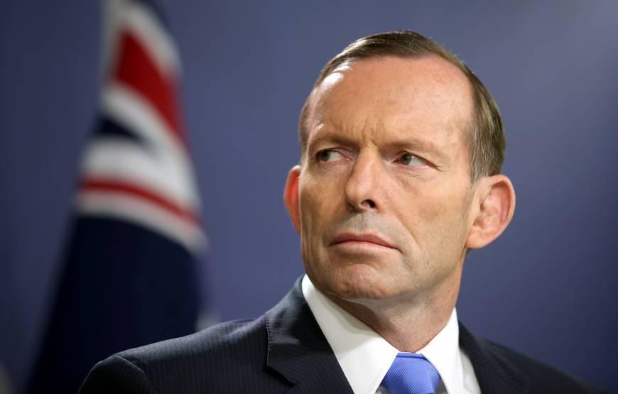Tony Abbott, ancien Premier ministre jusqu'en septembre 2015, date à laquelle Malcolm Turnbull, qui était alors son ministre, l'a renversé ©Associated Press