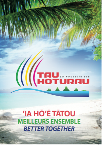 Le logo du parti, une pirogue polynésienne, image largement reprise, notamment par le parti d'Edouard Fritch