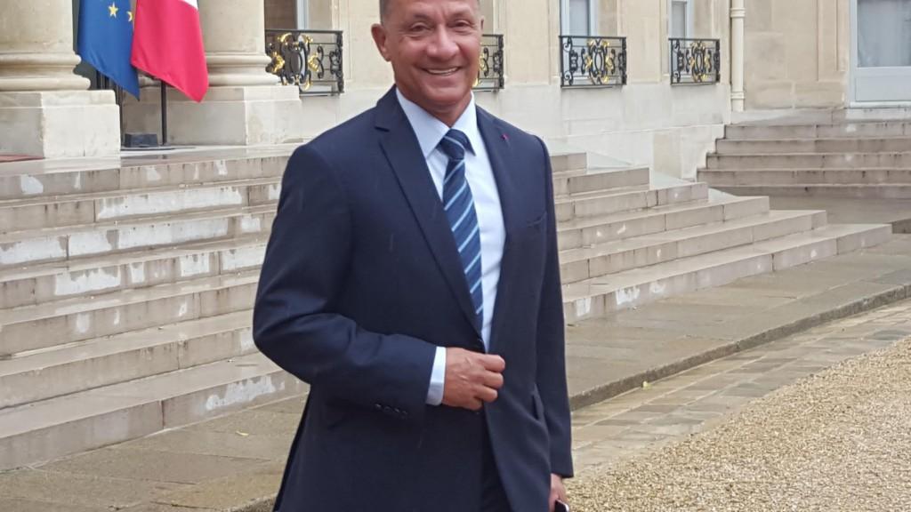 Le président de la Collectivité territoriale de de la Guyane, Rodolphe Alexandre à la sortie de son entretien avec François Hollande