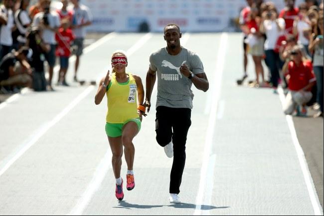 Nouveau défi pour Usain Bolt, il accompagnera l'athlète aveugle ©Getty images