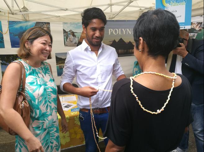 Rencontre avec Caroline Tang, de la Délégation de la Polynésie française à Paris et Teva Geros, Président de l'AEPF Bordeaux ©Outremers360