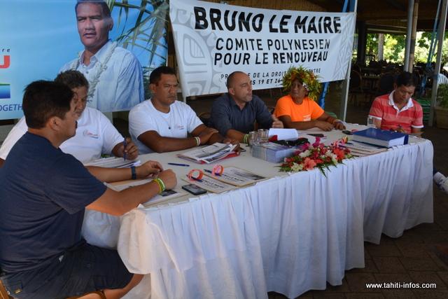 Le Tau Hoturau a annoncé son soutien à Bruno Le Maire ce lundi à Papeete ©DR