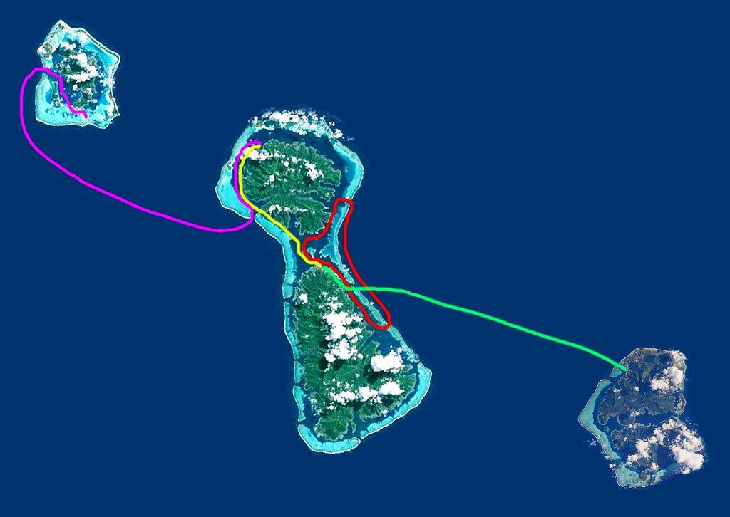 Les quatre étapes de la Hawaiki Nui Va'a
