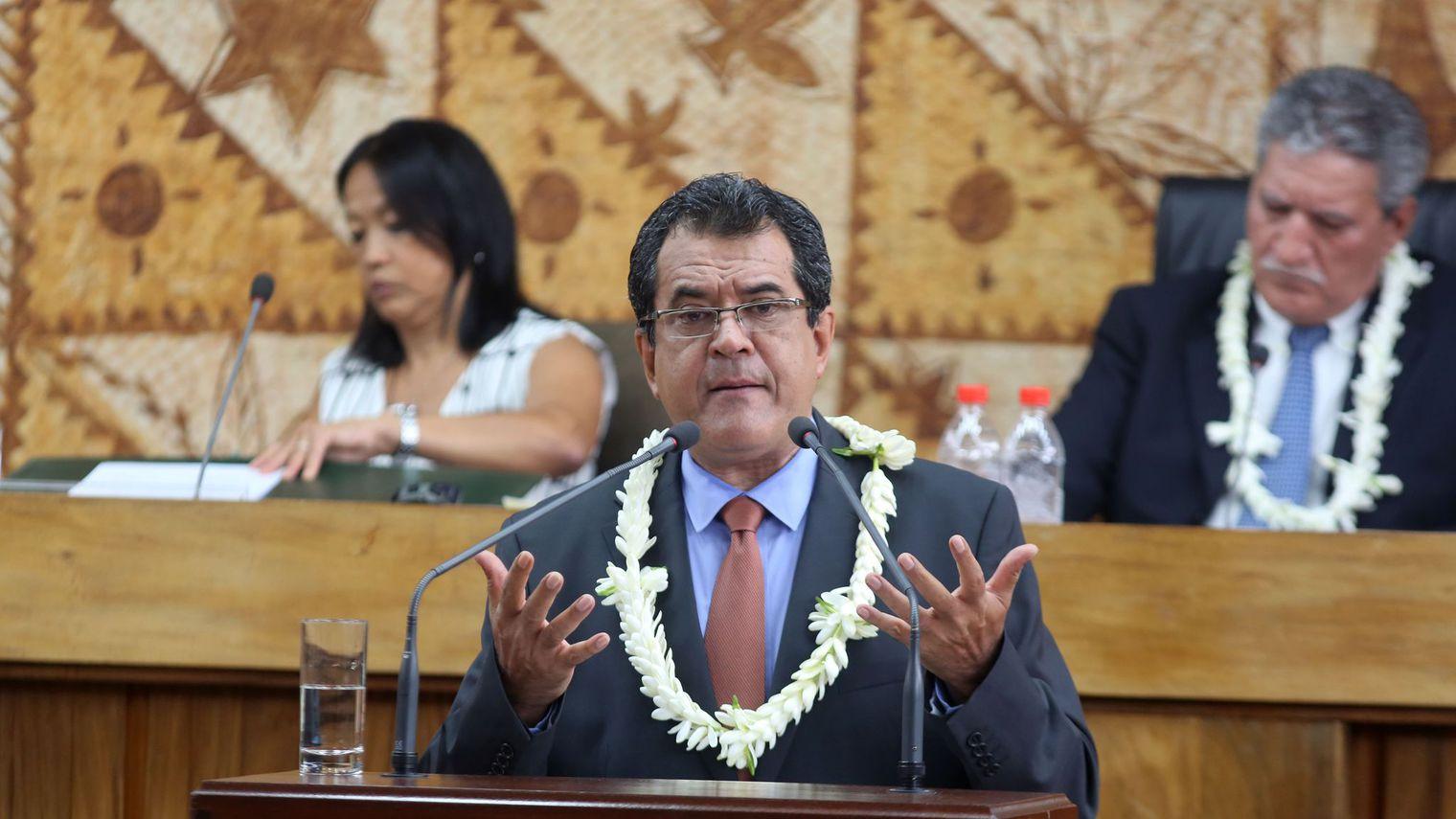 Après son passage devant les membres de la commission des finances, le projet de budget 2017 du gouvernement de la Polynésie française rentrera dans l'arène politique de la pLace Tarahoi ©Gregory Boissy / AFP