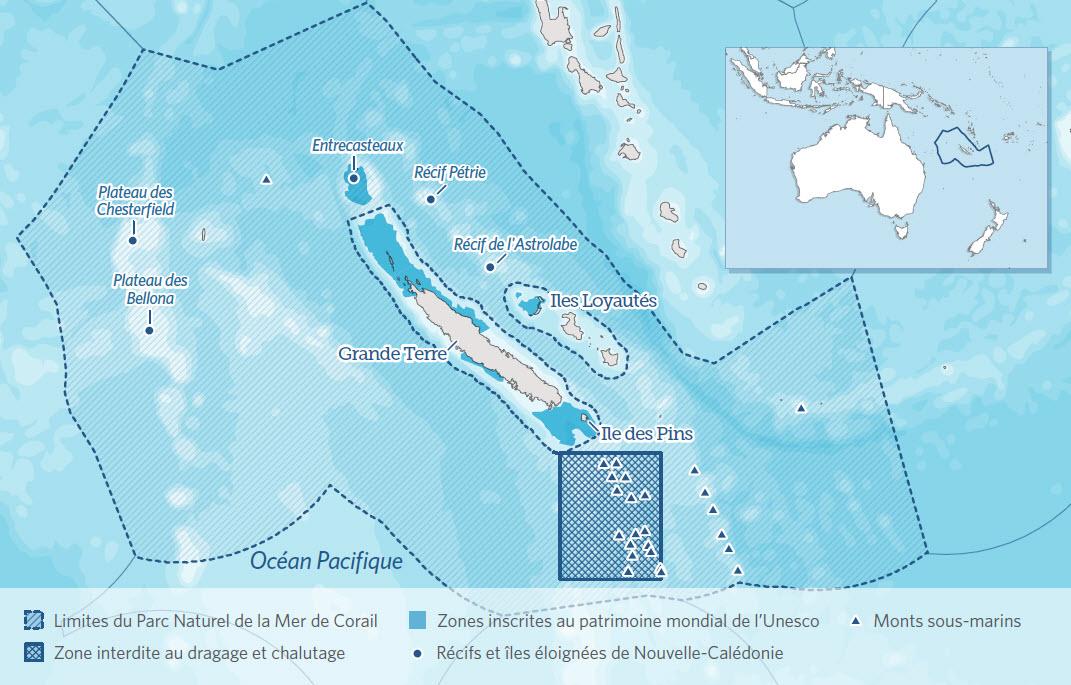 Les 1,3 km² du parc naturel de la mer de corail ©Pew