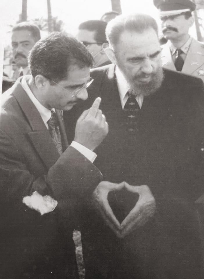 Le Sénateur guyanais a eu l'occasion de rencontrer El Commandante Fidel Castro © Facebook Antoine Karam