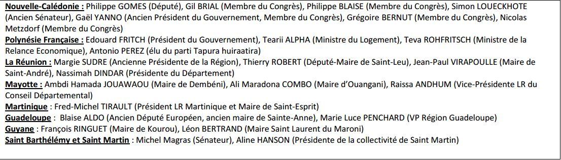 Les soutiens à Alain Juppé en Outre-mer ©Fedom