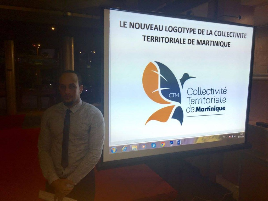 Stévy Desbonnes, lauréat du consultation sur la création du logo dans la collectivité territoriale de Martinique © Facebook CTM