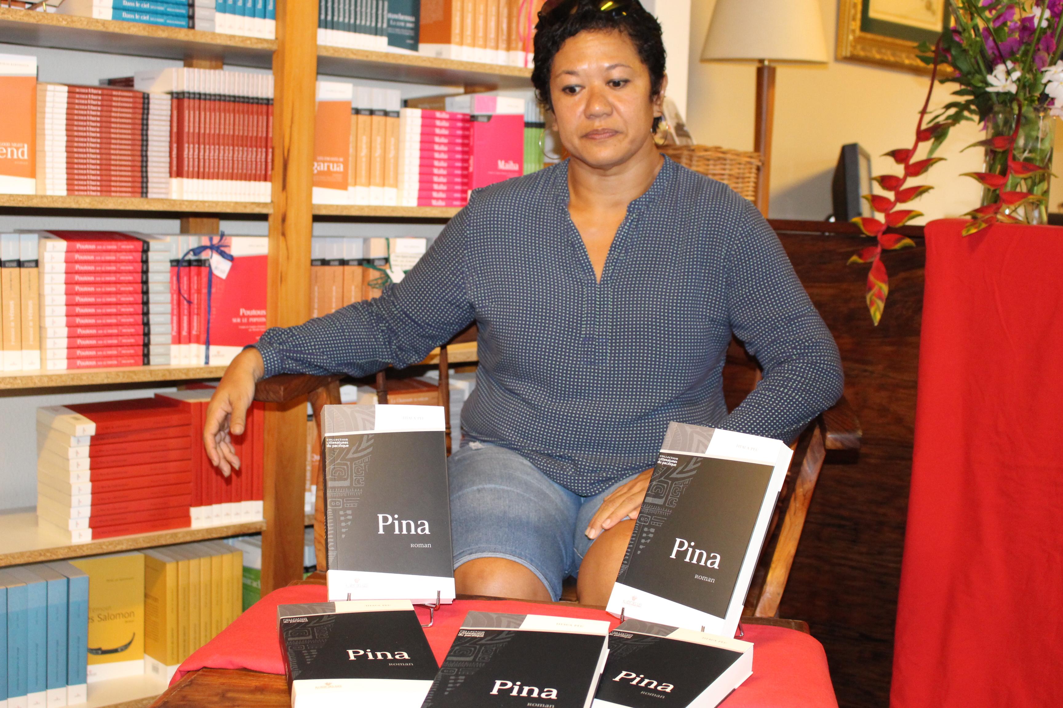 Titaua Peu publie son deuxième roman Pina en octobre, à l'occasion du Salon du Livre de Polynésie ©Tahiti-infos