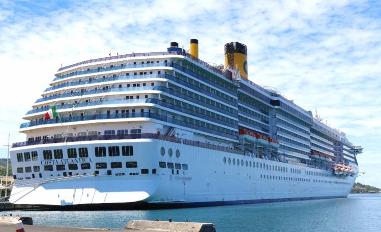 Avant de faire escale à Nouméa, le Costa Atlantica était en Polynésie ©Tahiti-infos