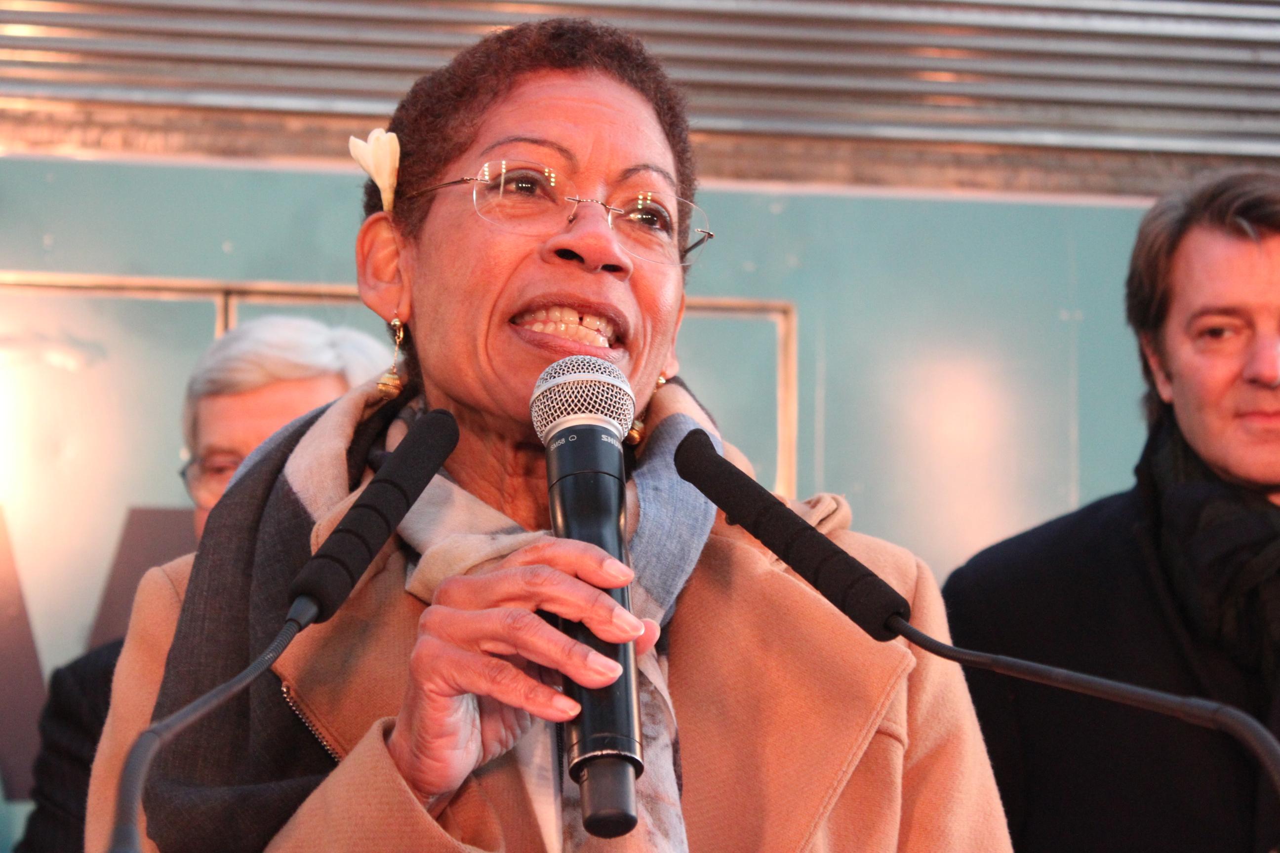 George Pau-Langevin, ancienne ministre des Outre-mer, lors de l'inauguration dy==u Train des Outre-mer ©T. Faatau / Outremers360