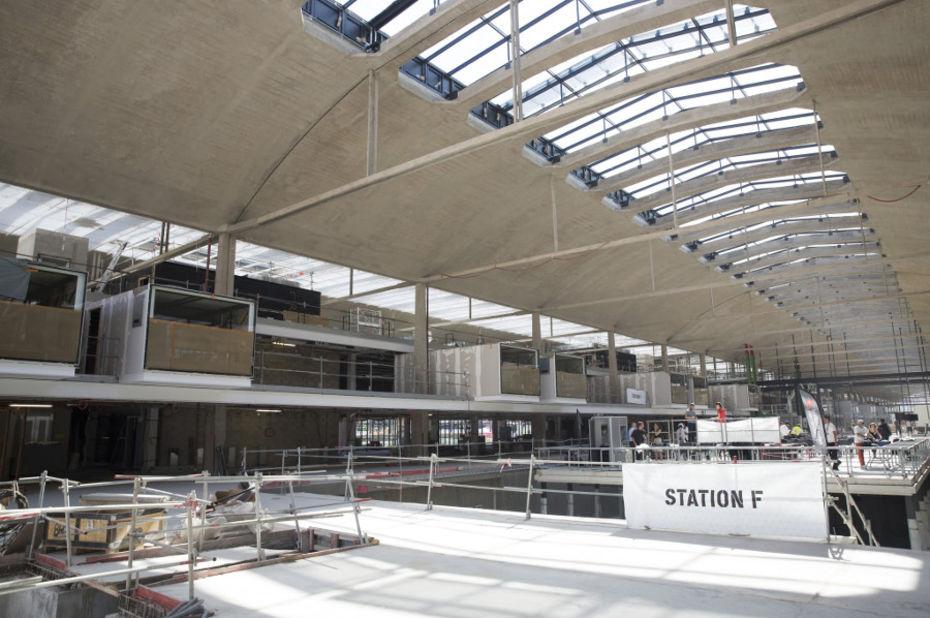 La Station F de Xavier Niel ouvrira le 1er avril prochain ©Sophie Robichon / Station F