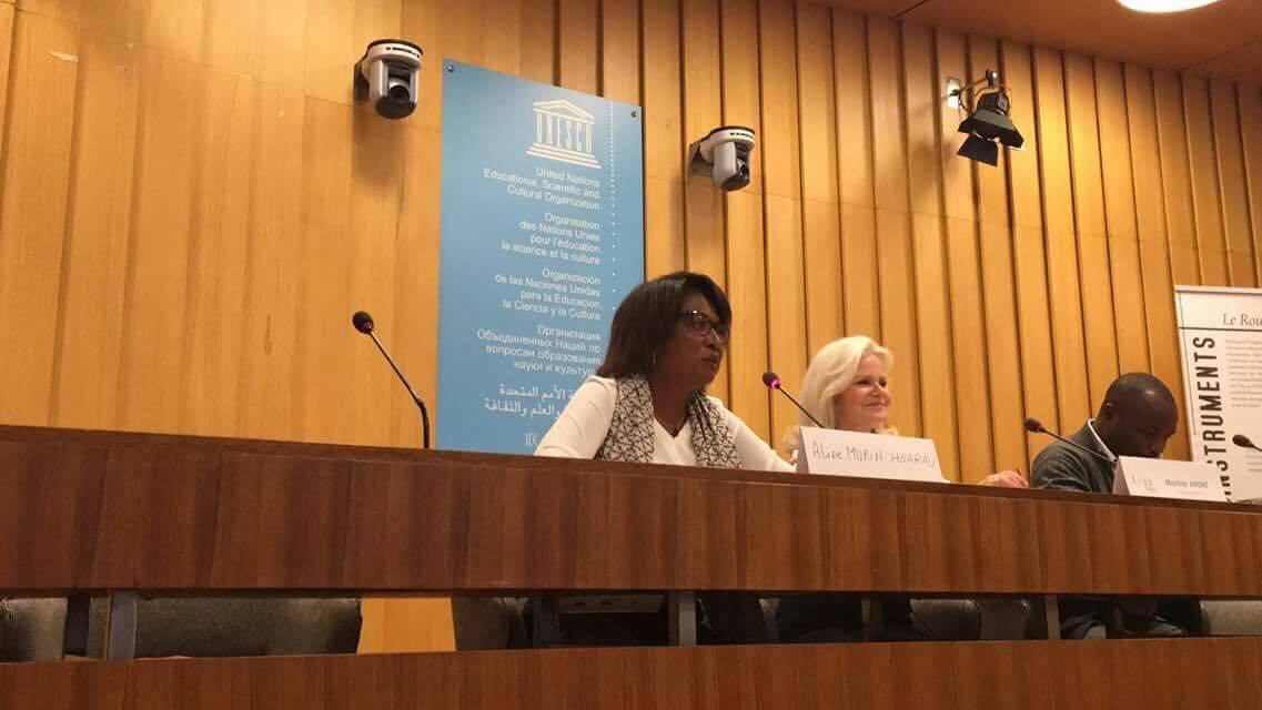 Aline Murin-Hoarau, hier soir à Paris, lors du 60ème congrès de l'UNDC ©DR