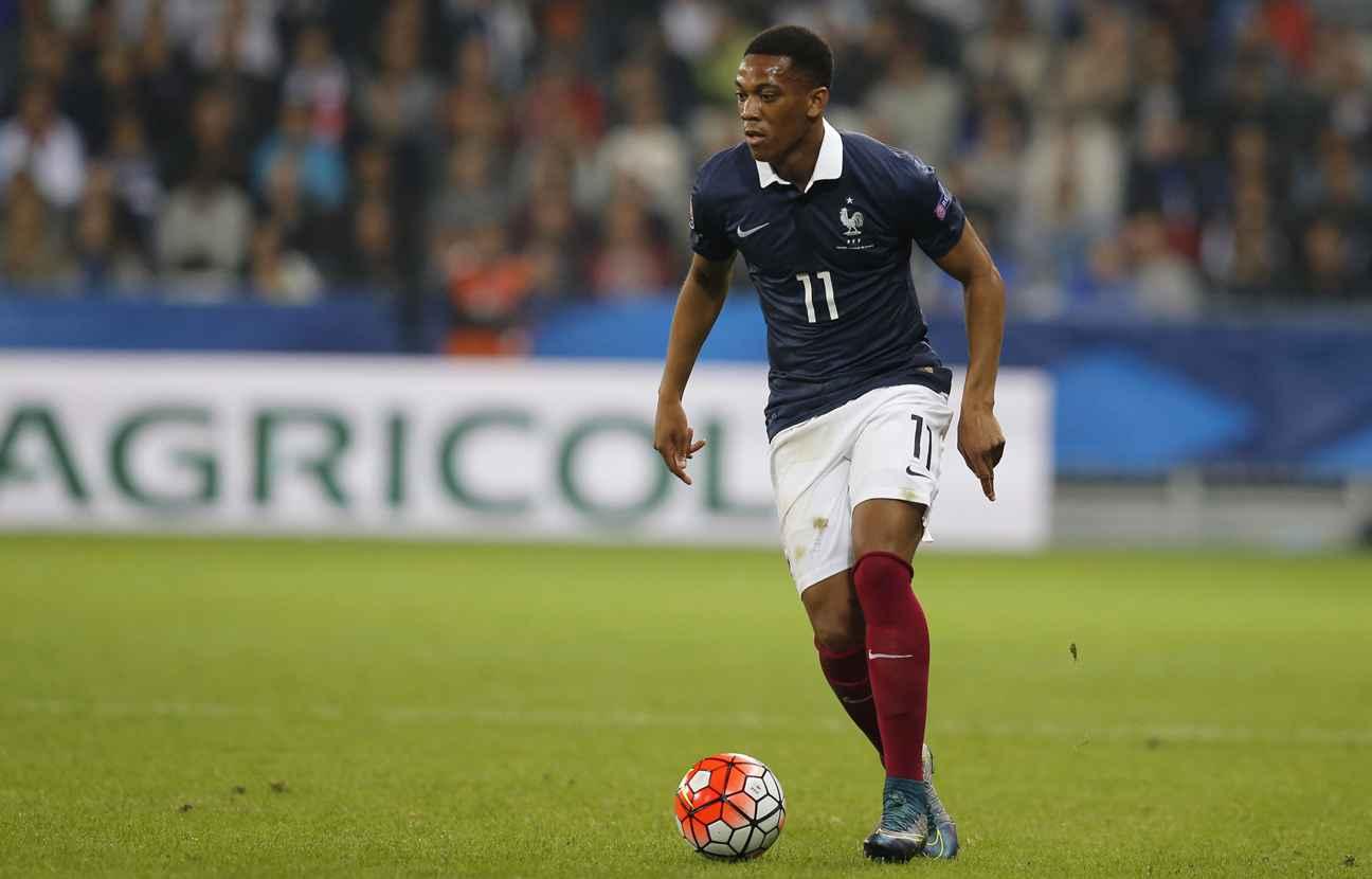 Il reste encore 10 match en équipe de France pour qu'Anthony Martial atteigne le seuil de la deuxième clause ©DR