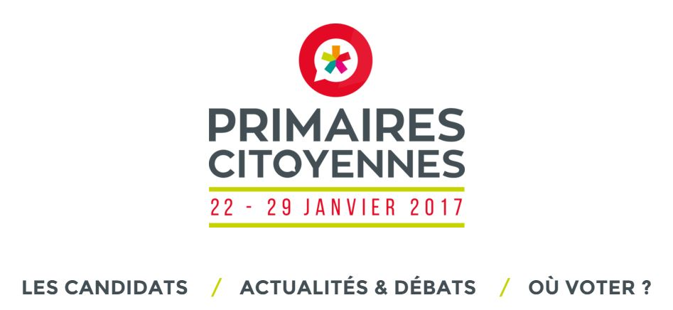"""Site internet de la """"Primaire citoyenne"""" ©Capture"""
