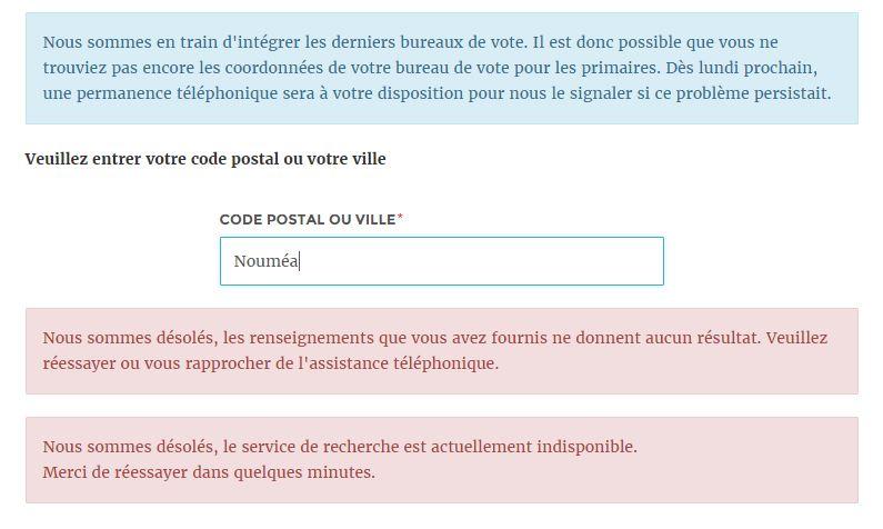Primaire de la gauche 262 bureaux de vote pour les outre - Bureau de service national du lieu de recensement ...