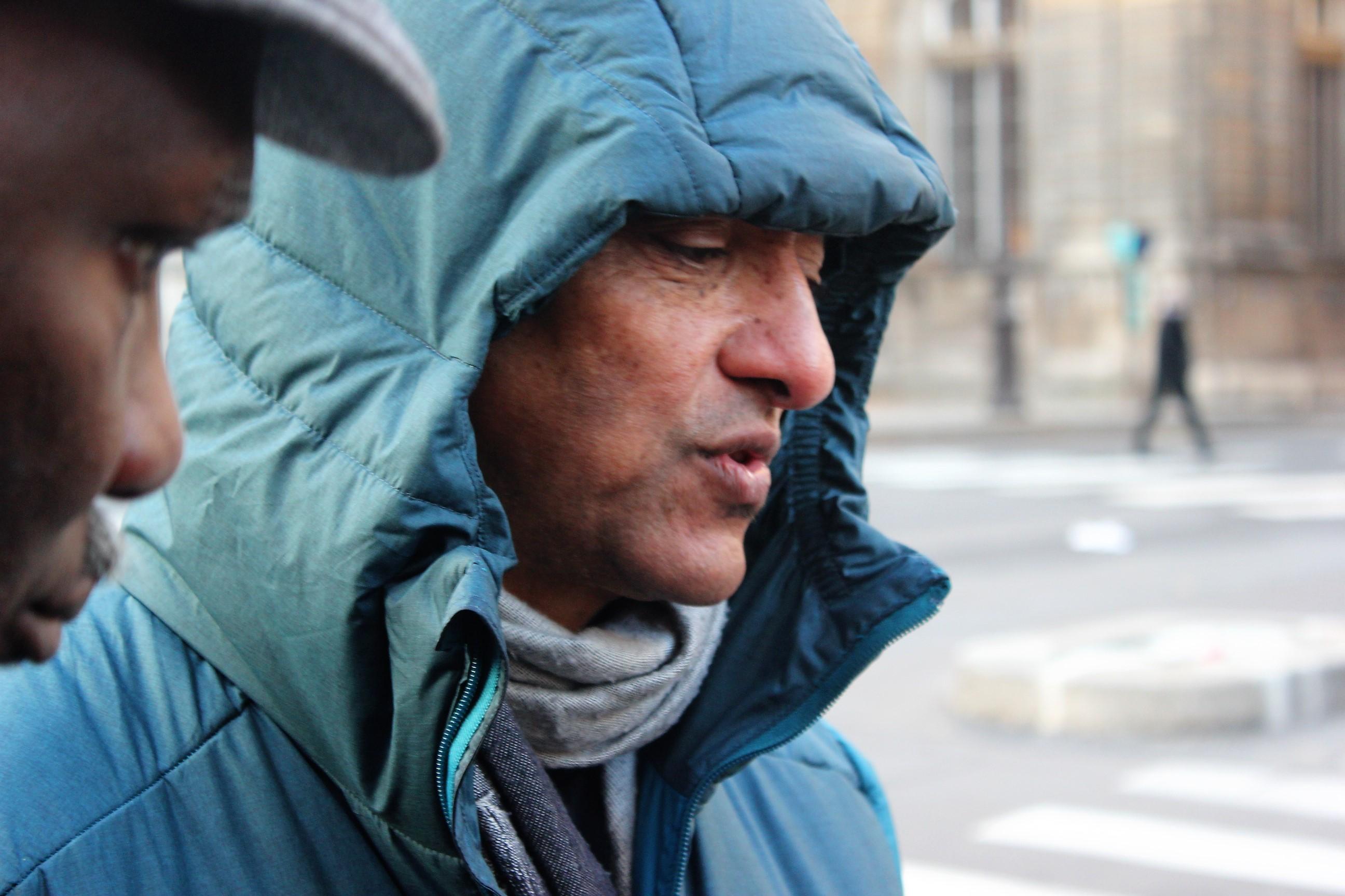 Malgré le froid qui s'est abattu sur la capitale, Serge Romana n'abandonnera pas ©Outremers360