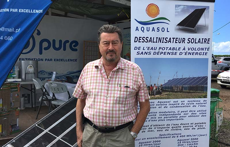 Jean-Pierre Gaudfrin, créateur du système Aquasol ©Cédric Valax / Radio 1 Tahiti