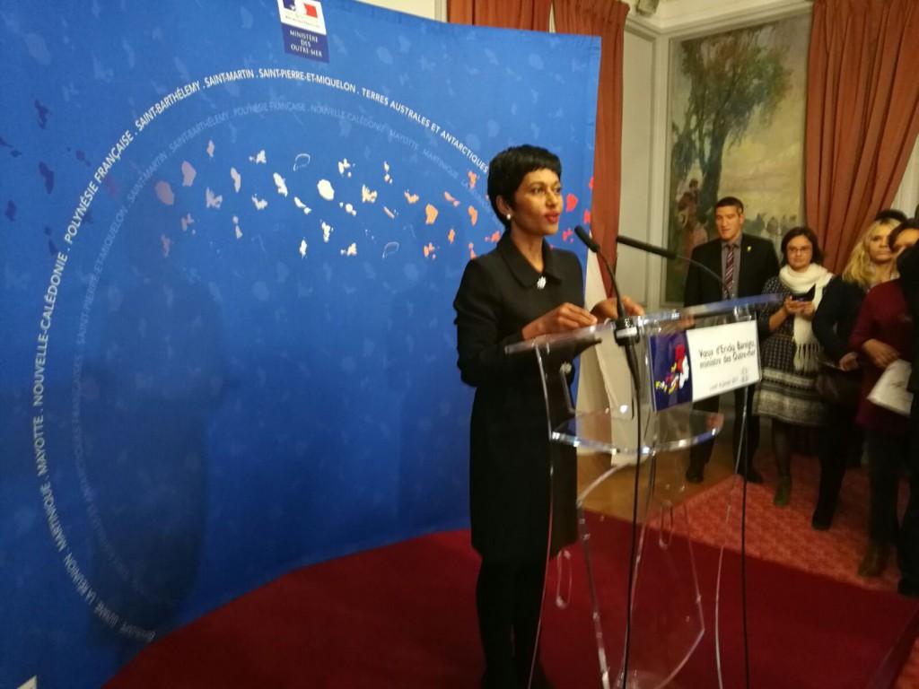 """Ericka Bareigts lors de son discours : """"Nous pouvons être fiers des Outre-mer !"""" © Outremers 360"""