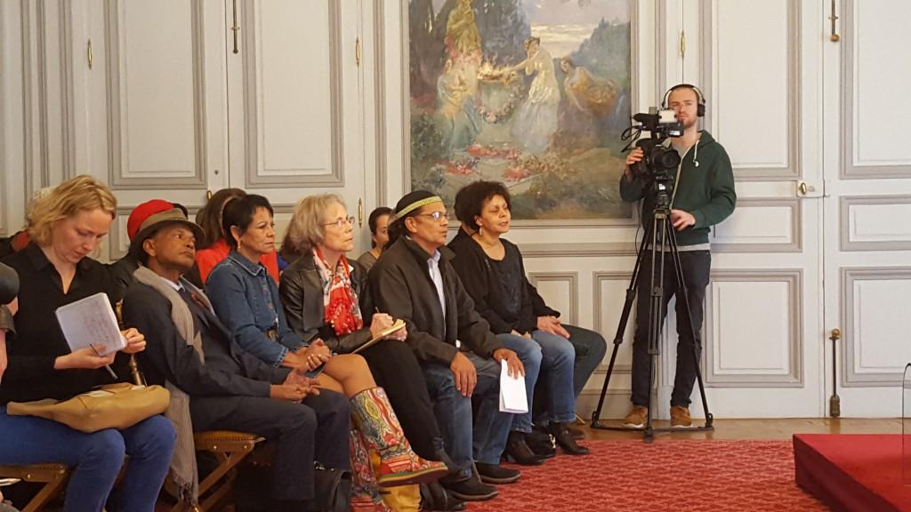 """Des """"Réunionnais de la Creuse étaient présents pour suivre ce point d'étape © Outremers 360"""