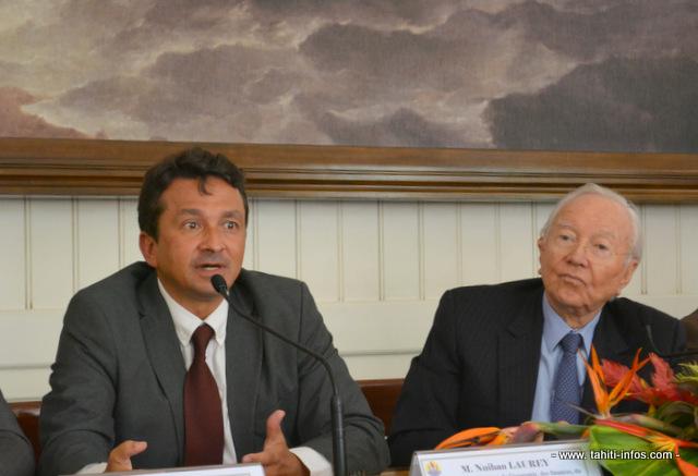 Nuihau Laurey est entré au gouvernement en mai 2013, aux côtés de Gaston Flosse ©Tahiti-infos