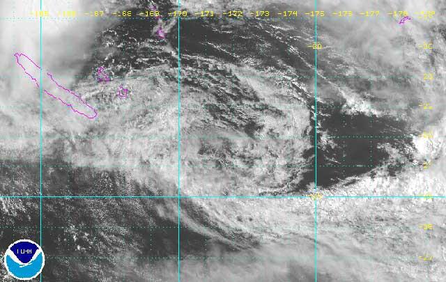 La dépression 95P quitte la Nouvelle-Calédonie et poursuit sa trajectoire vers l'Ouest ©DR