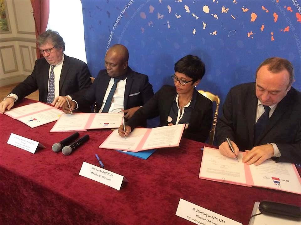 """Lundi 27 février: signature du """"Plan eau Mayotte"""" au Ministère des Outre-mer ©Outremers360"""