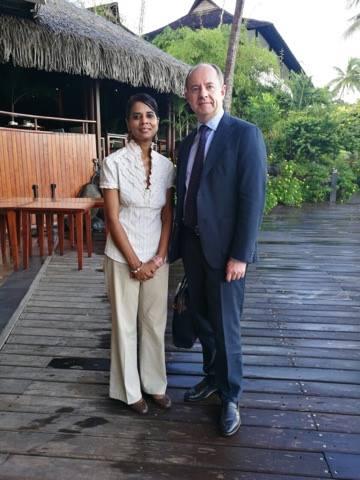 Outremers360, actuellement en Polynésie pour le Digital Festival Tahiti, a pu rencontrer en exclusivité le ministre de la Justice ©Outremers360