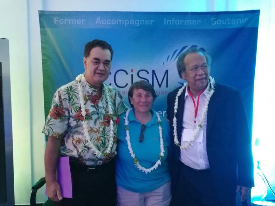 Stéphane Chin Loy, à gauche de la photo, est le Président de la CCISM ©Outremers360