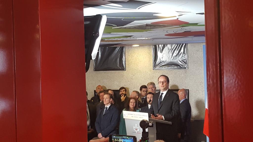 Cette cérémonie du lancement de la Cité des outre-mer a été l'occasion pour Français de faire le bilan de son quinquennat © Outremers 360
