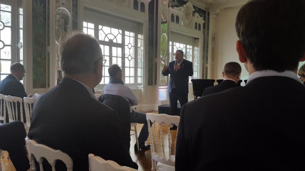 Jean-Phiippe Karouby lors de l'ouverture de la 2eme édition des rencontres économiques de la Région Réunion