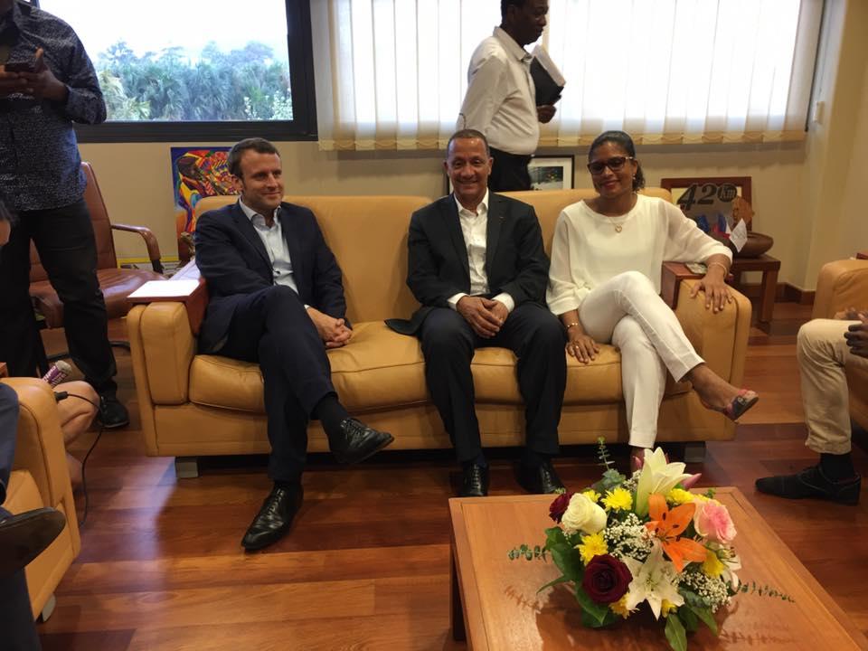 Le 20 décembre dernier, le président de la CTG s'était entretenu avec le candidat d'En Marche ©Facebook Rodolphe Alexandre