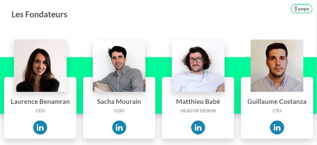 Avec Laurence Benamran, Sacha Mourain et Guillaume Costanza, ses amis de Master II, Matthieu Babé a réfléchis à une solution innovante et digitale pour la recherche d'appartement ©DR