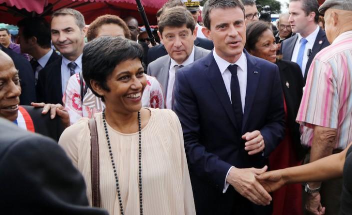 La ministre des Outre-mer, proche et ancienne soutien de Manuel Valls, a décidé de faire campagne auprès de Benoît Hamon ©