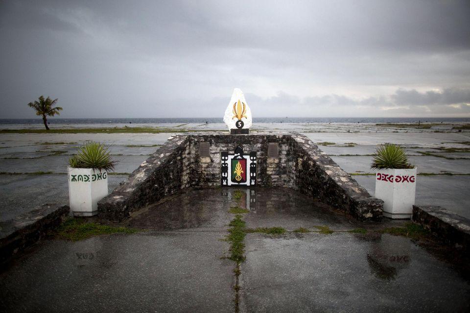 Mémorial à Moruroa ©Gregory Boissy / AFP