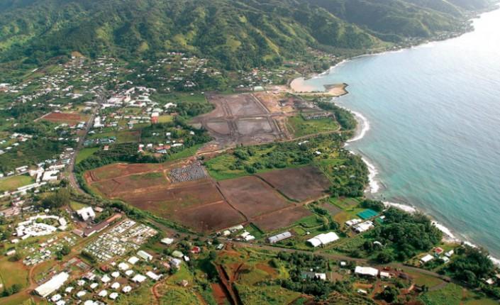 Le site de Faratea, situé sur l'isthme de Taravao, qui relie la grande île de Tahiti à la petite ©DR