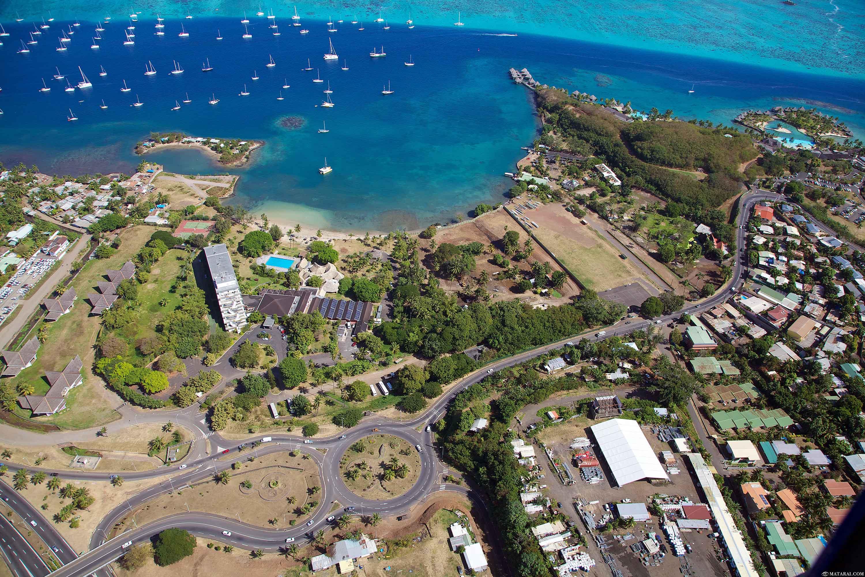 """C'est sur ce site, situé à l'ouest de Papeete, où le """"Village tahitien"""" verra le jour ©Matarai"""