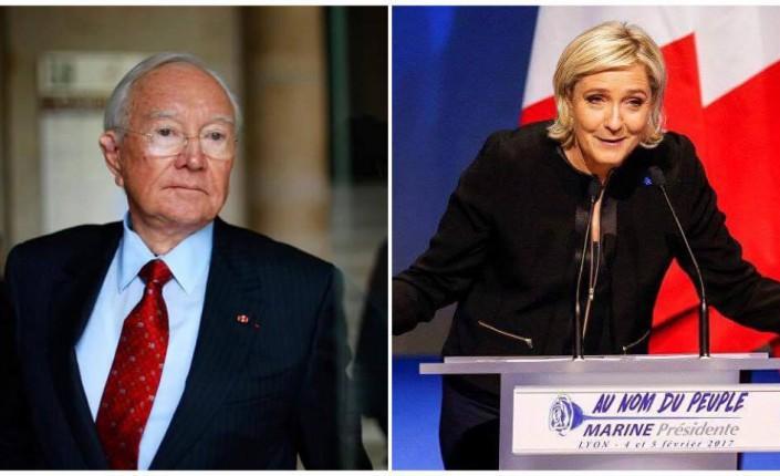 Gaston Flosse, ancien Président de la Polynésie française, est le nouveau soutien de Marine Le Pen ©Gregory Boissy (AFP) / Robert Pratta (Reuters)