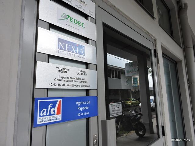 L'agence AFD de Papeete, où les études publiées par l'AFD sont disponibles à la demande ©Tahiti-infos