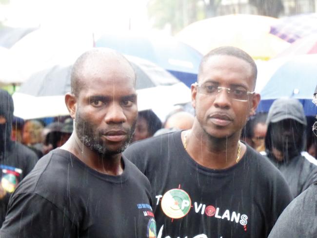 """José Achille, à droite sur la photo, a annoncé son départ des """"500 frères"""" ©France-Guyane"""