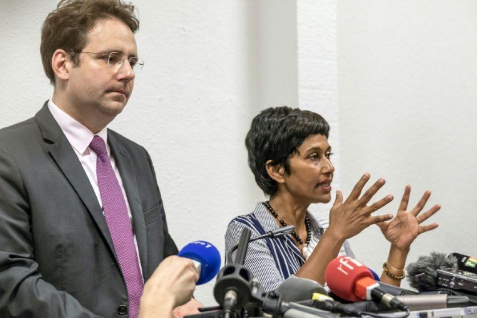 Les ministres ont tenu un point presse samedi après-midi, après l'annonce de l'enveloppe d'1 milliard d'euros ©Jody Amiet / AFP