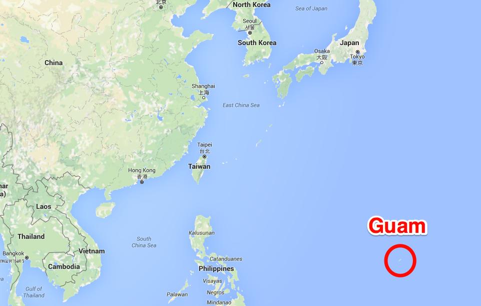 Située dans le Pacifique ouest, l'île de Guam est le premier territoire américain à portée de tir de la Corée du Nord ©Capture