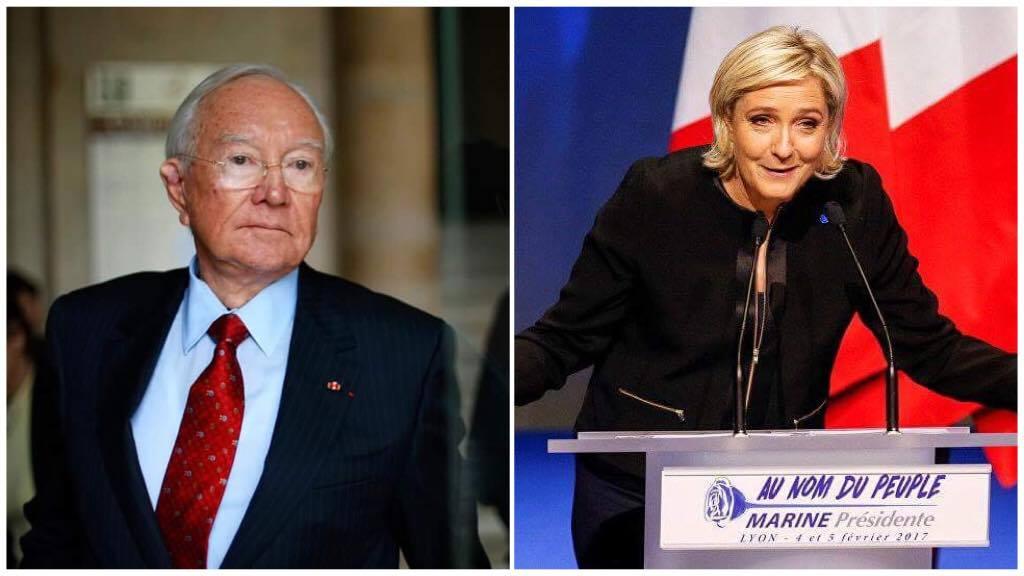 En offrant son soutien à Marine Le Pen, Gaston Flosse est devenu le premier poids lourd politique en Outre-mer à soutenir l'héritière du Front national ©Gregory Boissy (AFP) / Robert Pratta (Reuters)