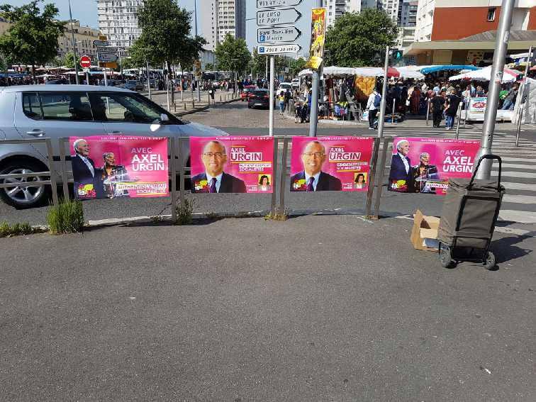 Les différentes affiches de campagne du candidat socialiste © Parti Socialiste de Choisy-le-Roi
