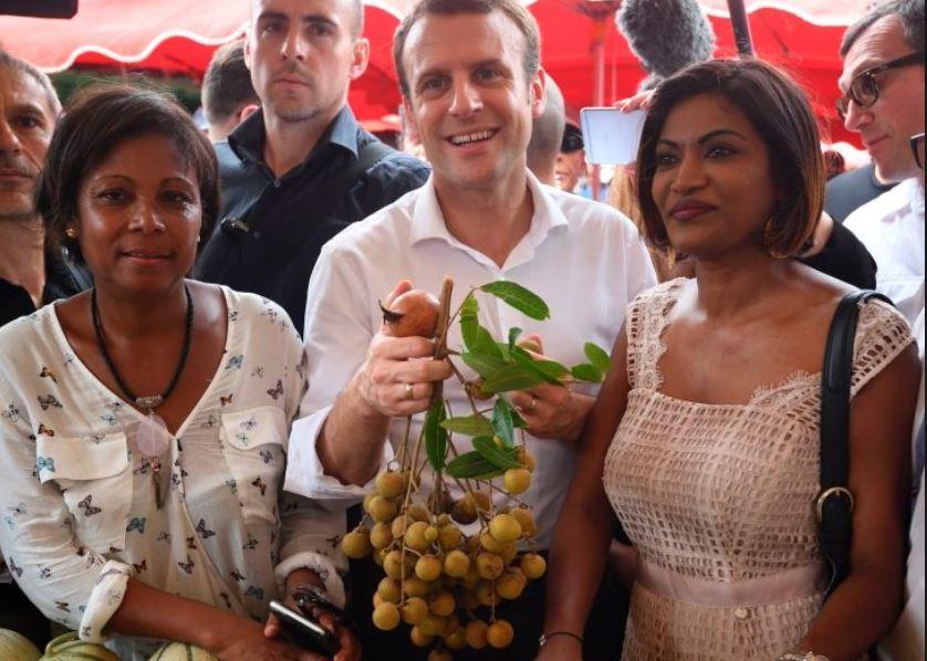 La députée Monique Orphé a soutenu Emmanuel Macron dès le mois de février. ici, à La réunion lors du déplacement du candidat en mars dernier ©Getty Images / Eric Feferberg