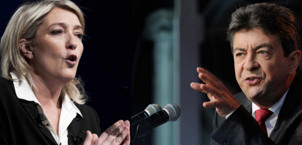 Pour ces législatives, Marine Le Pen et Jean-Luc Mélenchon se rêvent chacun en principale force d'opposition à Emmanuel Macron ©DR / capture