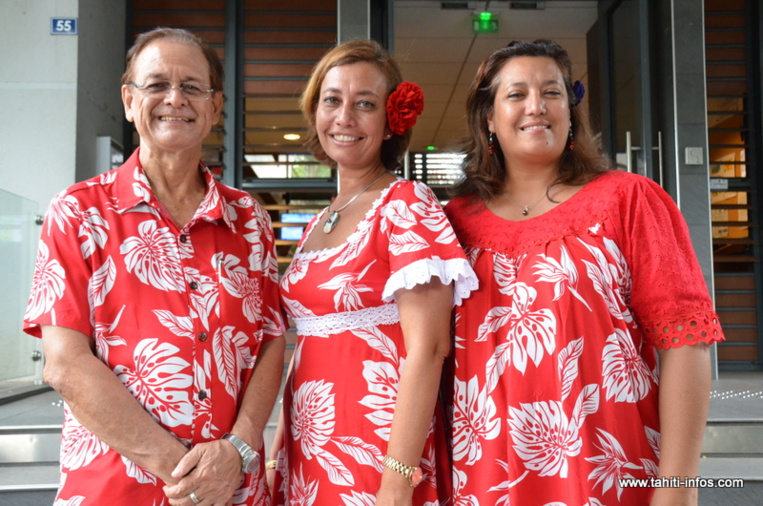 Patrick Howell, Nicole Sanquer et Maina Sage, candidats du Tapura Huira'atira d'Edouard Fritch ©Tahiti-infos